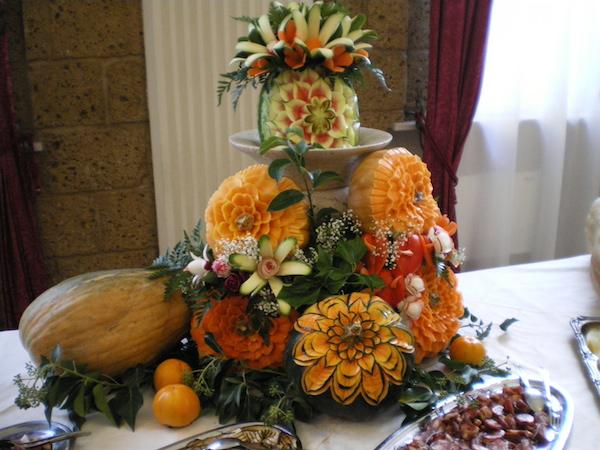 Intagli di frutta e vegetali